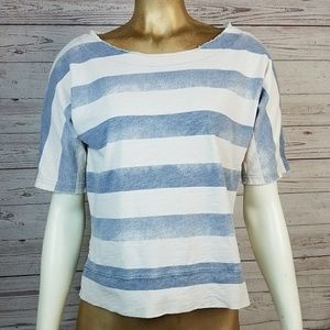 Cloud Stripe Dolman Sleeve Tee